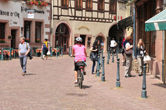 Haut Rhin, the picturesque city of Kaysersberg in Alsace Stock Photos
