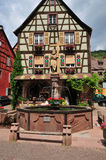 Haut Rhin, the picturesque city of Kaysersberg in Alsace Stock Photography