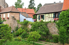 Haut Rhin, the picturesque city of kientzheim in Alsace Stock Image