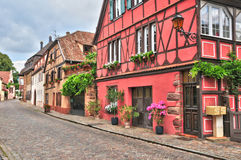 Haut Rhin, the picturesque city of kientzheim in Alsace Stock Photo