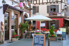 Haut Rhin, the picturesque city of Ribeauville in Alsace Stock Image