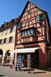 Haut Rhin, the picturesque village of Eguisheim Stock Photo