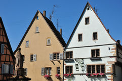 Haut Rhin, the picturesque village of Eguisheim Royalty Free Stock Photography