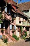 Haut Rhin, the picturesque village of Eguisheim Stock Image