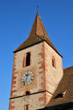 Haut Rhin, the picturesque village of Hunawihr in Alsace Royalty Free Stock Photo