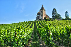 Haut Rhin, the picturesque village of Hunawihr in Alsace Royalty Free Stock Images
