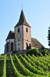 Haut Rhin, the picturesque village of Hunawihr in Alsace Stock Photo