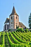 Haut Rhin, the picturesque village of Hunawihr in Alsace Stock Photography