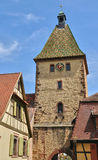 Haut Rhin, village of Bergheim  in Alsace Stock Photos