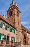 Haut Rhin, village of Bergheim  in Alsace Royalty Free Stock Photography