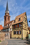 Haut Rhin, village of Bergheim  in Alsace Stock Photos