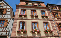 Haut Rhin, village of Bergheim  in Alsace Royalty Free Stock Image