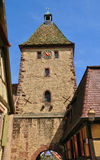 Haut Rhin, village of Bergheim  in Alsace Royalty Free Stock Images