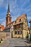 Haut Rhin, village of Bergheim  in Alsace Royalty Free Stock Photos