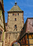 Haut Rhin, village of Bergheim  in Alsace Stock Photography