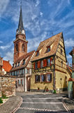 Haut Rhin, village of Bergheim  in Alsace Stock Image