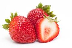 haut savoureux de fraises de projectile proche Photographie stock libre de droits
