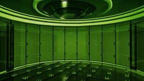 Haut studio du teck TV Image stock