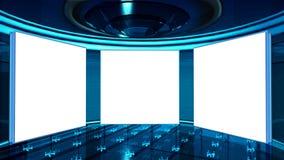 Haut studio du teck TV Image libre de droits