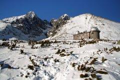 Haut Tatras (crête de Lomincky) en hiver Image libre de droits