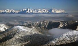 Haut Tatras de Chopok en hiver Photographie stock