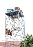 Haut vieux réservoir d'eau Image stock