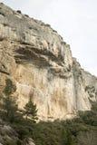 Haute Alpes, Luberon parkerar den utvändiga Lourmarin byn, Provence Arkivfoton
