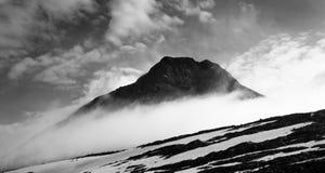 Haute aux montagnes Images libres de droits