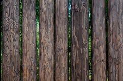 Haute barrière en bois de plan rapproché de countryland d'identifiez-vous Image stock