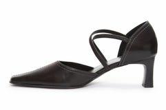 haute chaussure de talon noir Photographie stock