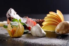 Haute cuisine dessert Stock Photography