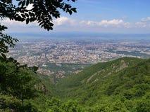 Haute dans la montagne Photos libres de droits