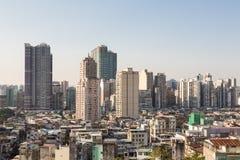 Haute densité résidentielle de Macao Photo libre de droits