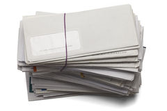 Pile de factures photographie stock libre de droits