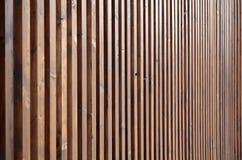 Haute frontière de sécurité en bois Photo stock
