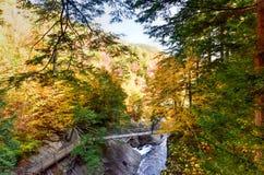 Haute gorge d'automnes - rivière d'Ausable photo stock