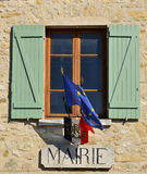 Haute Isle, France - february 29 2016 : picturesque village in w. Haute Isle, France - february 29 2016 : the small city hall Stock Images
