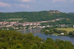 Haute kontz, Moezel, Frankrijk stock foto