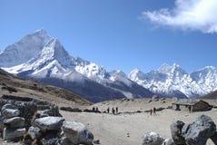 Haute maison de l'Himalaya Photographie stock