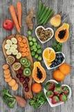 Haute nourriture biologique fraîche de fibre photos libres de droits