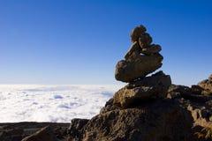 Haute pile de roche Photo libre de droits