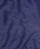 Texture de tissu de coton - bleu-foncé Photos libres de droits