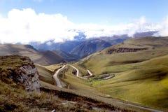 Haute route alpestre Photo libre de droits