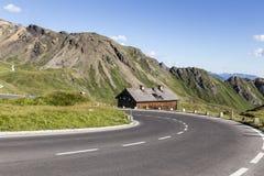 Haute route alpestre Photos libres de droits