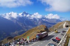 Haute route alpestre de Grossglockner Photos libres de droits