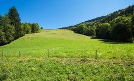 Haute Savoie garden hill Royalty Free Stock Image