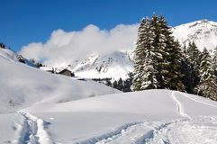 Haute-Savoie landscape in winter Royalty Free Stock Photography