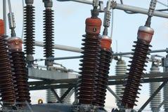 haute tension de centrale de transformateur électrique de ¿ d'ï» Photo libre de droits