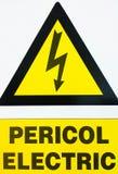 Haute tension - pericol électrique Photo stock