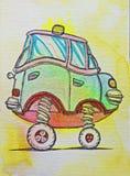 Haute voiture avec la lampe jaune Photo libre de droits